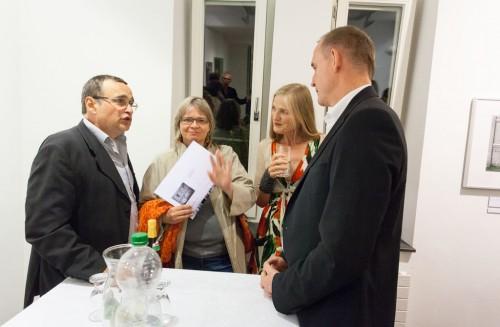 """Ausstellungseroeffnung """"Mehr als Grau"""" am 10.09.2013 in der Galerie f75 in Stuttgart"""