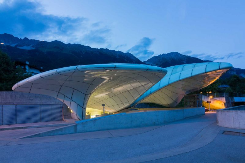 "Bergstation ""Hungerburg"" der Hungerburgbahn in Innsbruck"